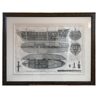 Nautical Engraving of the Shipbuilding Process by Charles-Joseph Panckouke For Sale