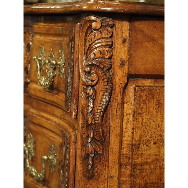 French Walnut Wood Commode From Lyon, Circa 1750 For Sale - Image 10 of 13
