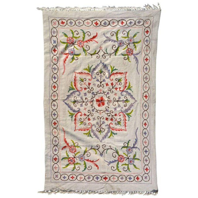 Red Antique Vintage Blanket Wall Tapestry For Sale - Image 8 of 8