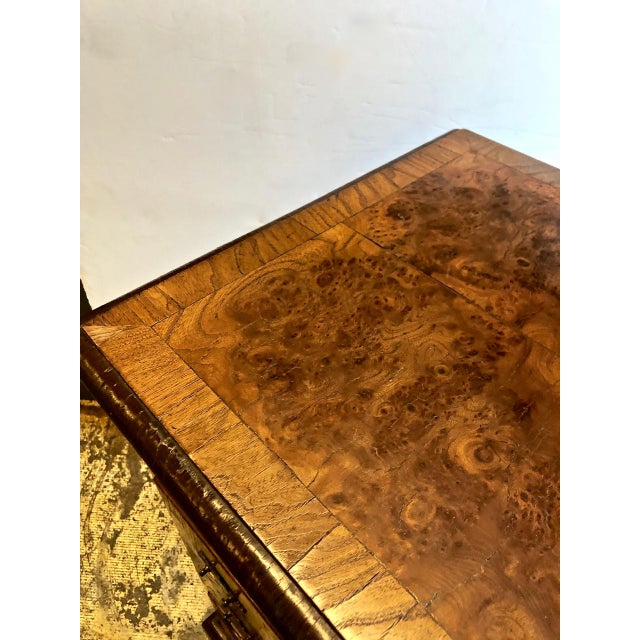 Late 19th Century George II-Style Burl Walnut Chest Of Drawers For Sale In Los Angeles - Image 6 of 11