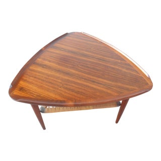 Poul Jensen for Selig Mid-Century Rosewood Guitar Pick Side Table For Sale