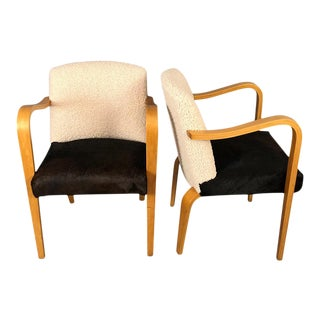 Mid-Century Modern Curated Lounge Chairs Thonet For Sale