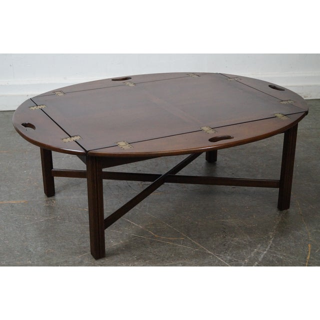 Hickory Chippendale Style Butler 39 S Coffee Table Chairish