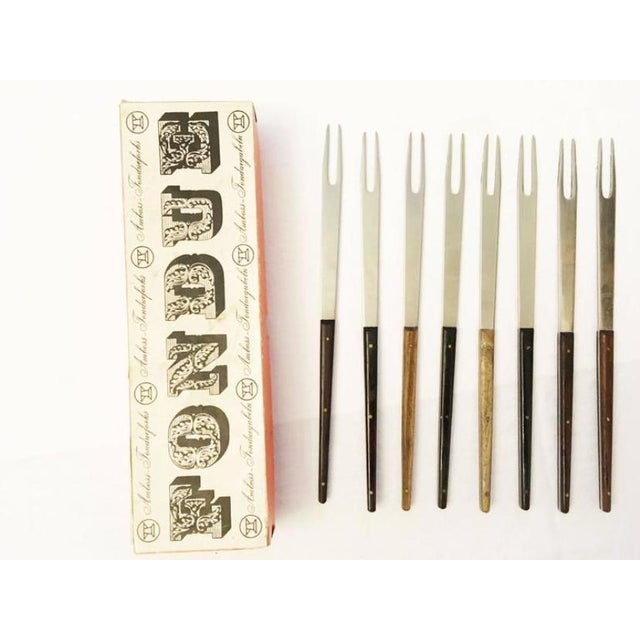 Metal Mid Century fondue fork by Carl Auböck for anvil - set of 4 For Sale - Image 7 of 8