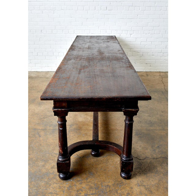 19th Century English Oak Refectory Dining Banquet Table For Sale - Image 12 of 13