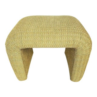 Taylor King MCM Upholstered Ottoman Footstool Chair Table For Sale