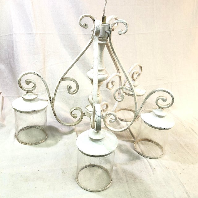 Quorum San Miguel 4-Light Persian White Chandelier For Sale - Image 13 of 13