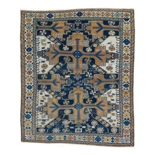 Early 20th Century Antique Shirvan Rug - 3′10″ × 4′7″ For Sale