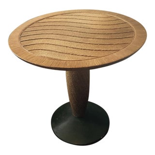 1960s Mid-Century Modern Lars Holstrom Rattan Wicker and Bamboo Side Table