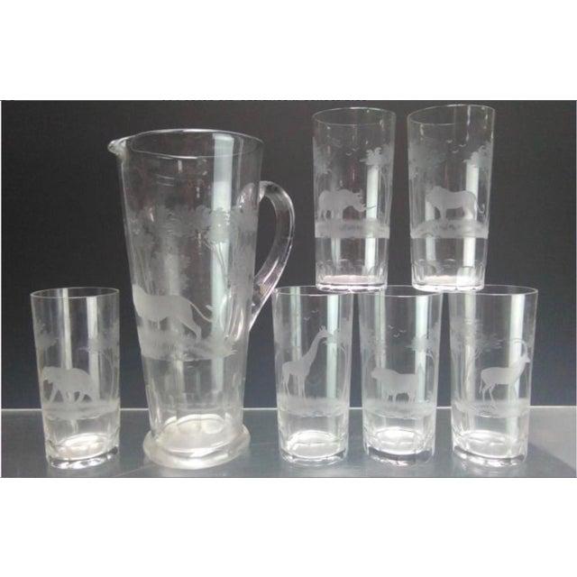 African Rowland Ward Kenya Safari Glassware - Set of 7 For Sale - Image 3 of 3