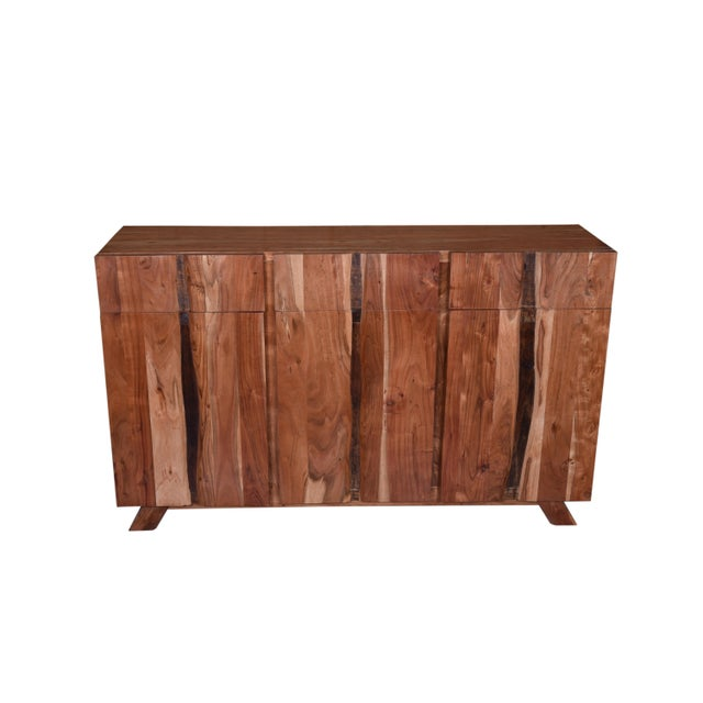 Contemporary Baxter Three Drawer Acacia Wood Storage Sideboard For Sale - Image 3 of 9
