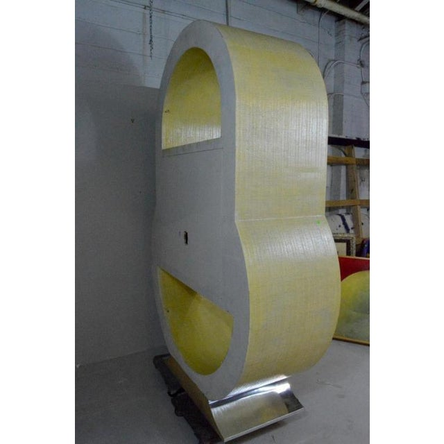 Postmodern Pat Lippy Ovoid Rounded Bar or Tv Cabinet For Sale - Image 4 of 8