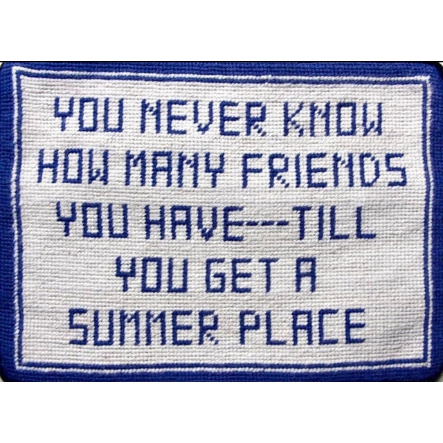 Inspired by a vintage needlepoint pillow at our friend's summer house! We brought back this classic design -- in a fresh...
