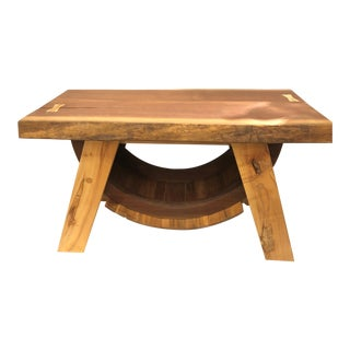 Amish Live Edge End Table or Bench For Sale