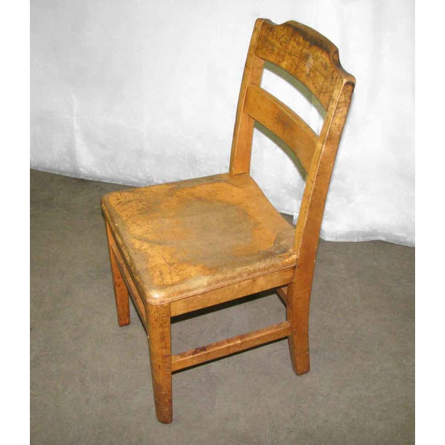 Antique Ladder Back School Chair For Sale - Image 6 of 9 - Antique Ladder Back School Chair Chairish