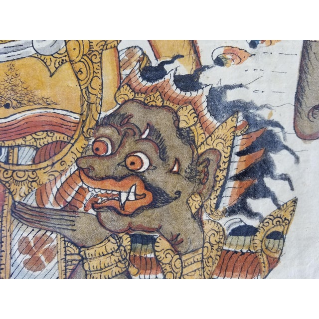 Burmese Painted Mythical Mural For Sale In Los Angeles - Image 6 of 10