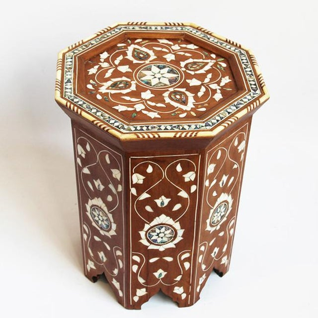 Boho Chic Moroccan Inlay Side Table For Sale - Image 3 of 5