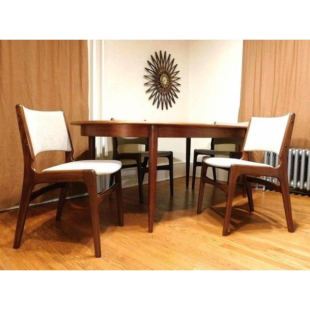 Mid-Century Modern Gudme Mobelfabrik Danish Teak Dining Table & 4 Chairs For Sale - Image 4 of 6