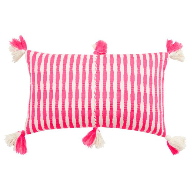 Antigua Neon Pink Pillow For Sale - Image 4 of 4