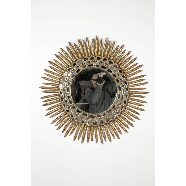Early 20th Century 20th Century Spanish Giltwood Sunburst Mirror For Sale - Image 5 of 6
