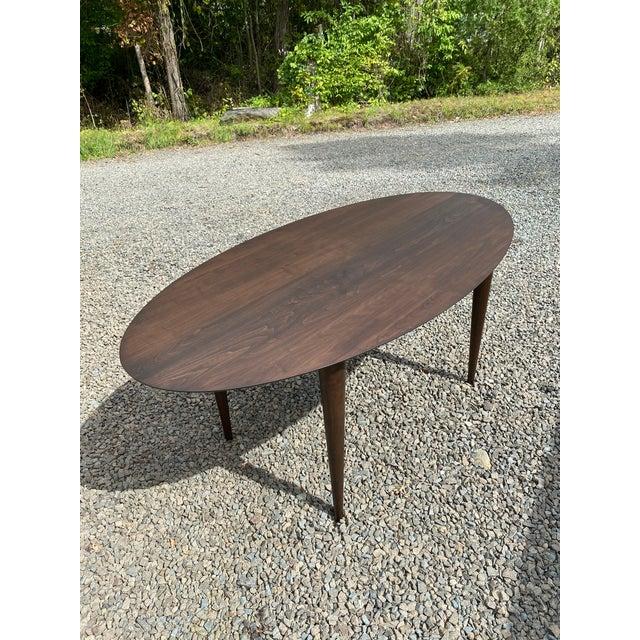 2010s Modern Medium Walnut Wood Table For Sale - Image 5 of 5