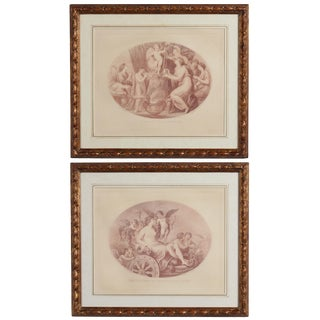 19th Century Bartolozzi Engravings With Cupid Scenes, Framed - a Pair For Sale