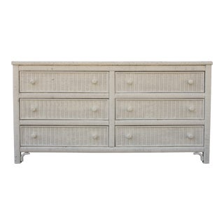 Henry Link White Wicker 6-Drawer Double Dresser