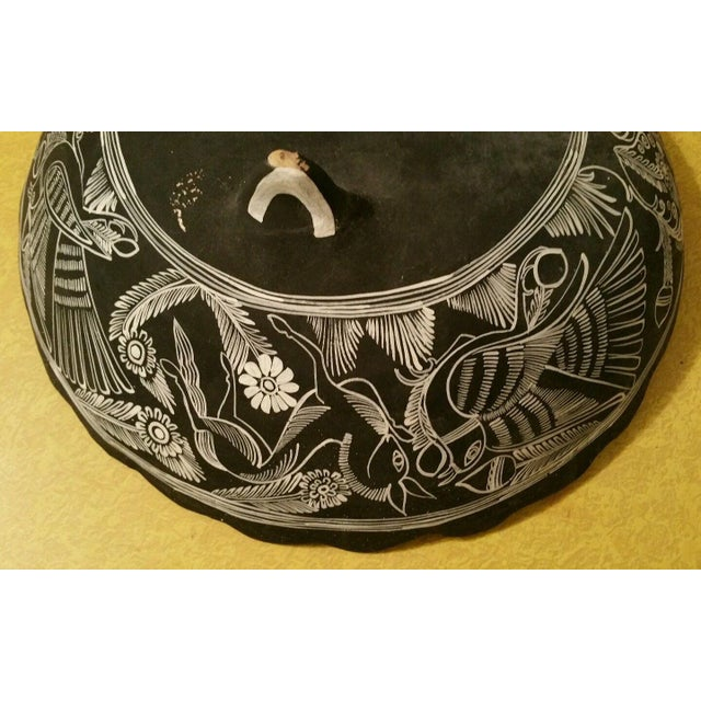 Mexican Handpainted Bowl With Birds, X. Guerrero - Image 6 of 8