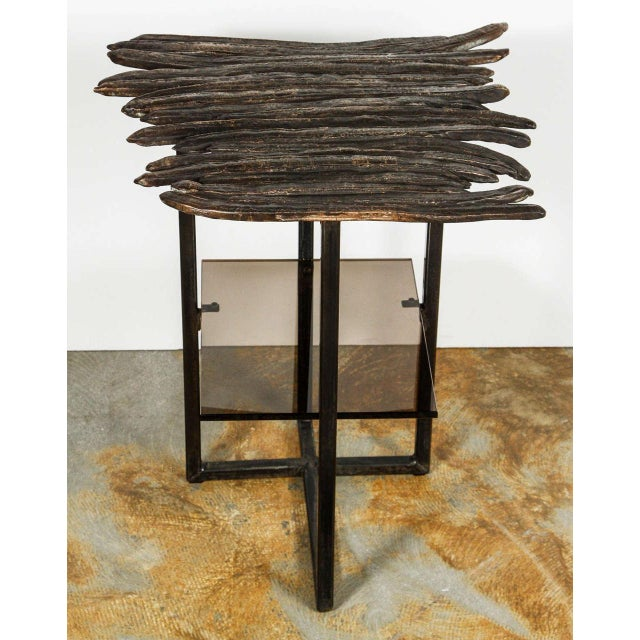 2010s Paul Marra Cast Bronze Pod Table For Sale - Image 5 of 7