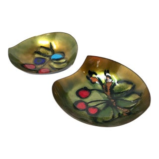 Pair of Laurana Rame d'Arte Enameled Copper Bowls For Sale