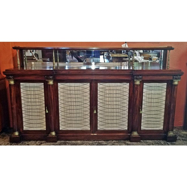 Gold Early 19c English Chiffonier in the Manner of Gillows For Sale - Image 8 of 13