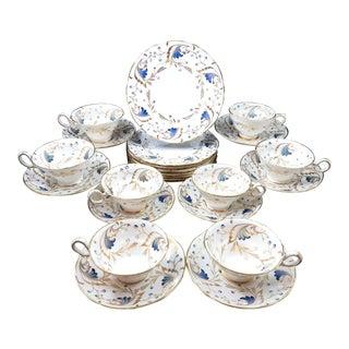 Vintage Copeland Spode / Grovesnor Bone China Dessert Set - 24 Pieces