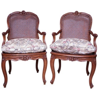 Pair of Louis XV Fauteuil's For Sale