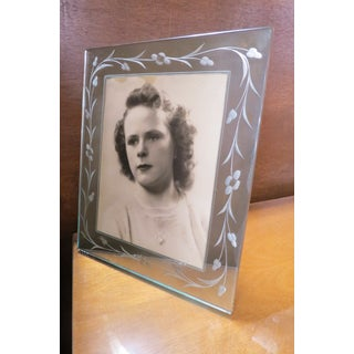 Antique Art Deco Mirrored Etched Picture Frame Preview
