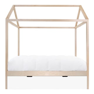 Nico & Yeye Domo Zen Bed with Trundle Twin Bed Maple White For Sale
