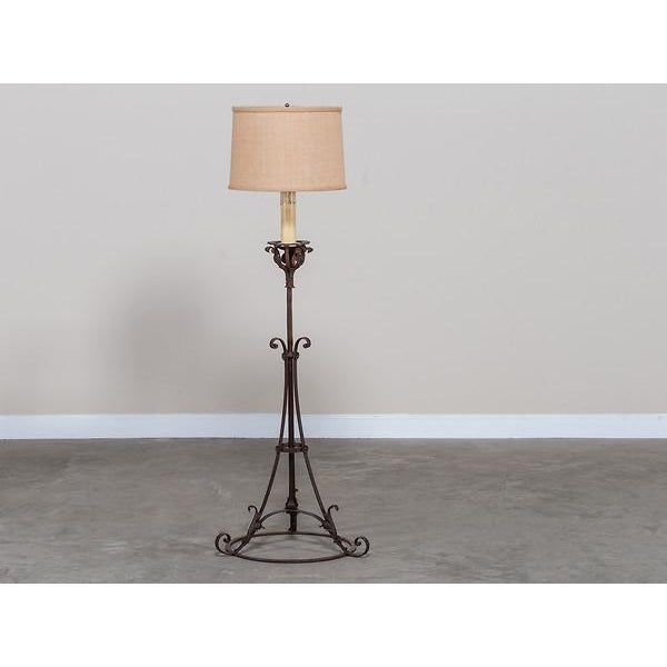 High end antique french forged iron candle stand floor lamp circa antique french forged iron candle stand floor lamp circa 1900 image 3 of 7 mozeypictures Choice Image