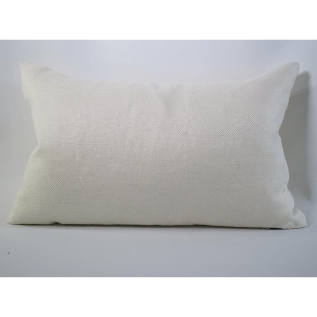 Boho Chic Neoclassical Revival Fortuny Uccelli Pillow - 22ʺW × 16ʺH For Sale - Image 3 of 4