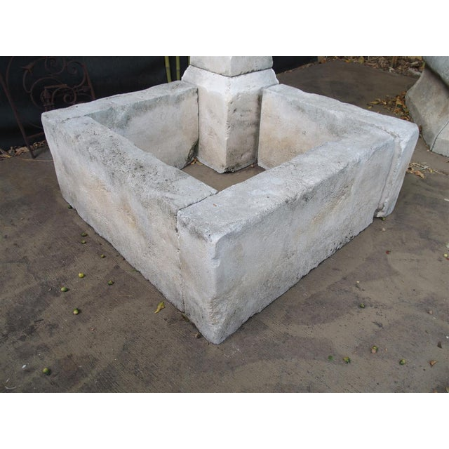 Carved Limestone Corner Fountain from France For Sale - Image 9 of 9