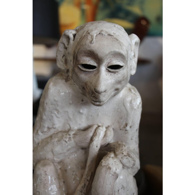 Contemporary Ceramic Monkey Sculpture For Sale - Image 3 of 10