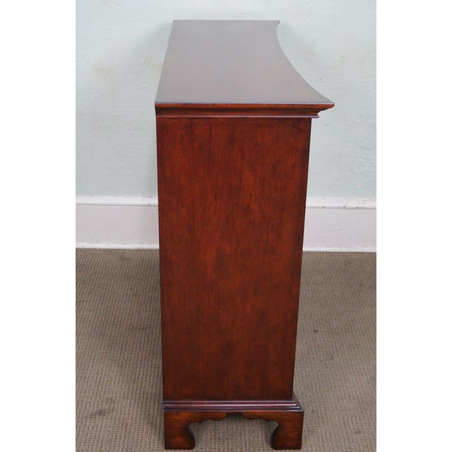 Chippendale Drexel Heritage Cherry Wood Chest of Drawers For Sale - Image 3 of 10