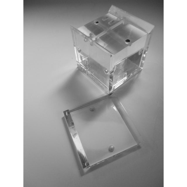 Lucite Cube Paperweight Picture Frame - Image 9 of 9