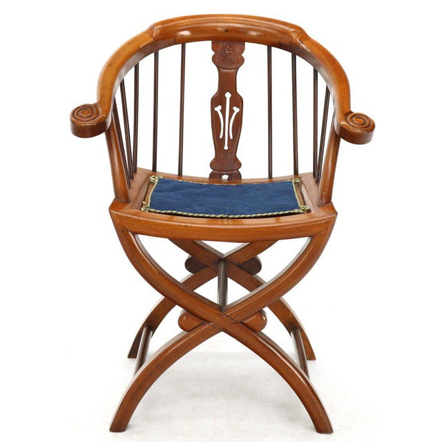 1970s Teak Horseshoe Back Lounge Chairs - a Pair For Sale - Image 12 of 13