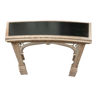 Carved Bleached Oak Neo-Gothic Console; English, Circa 1890 For Sale