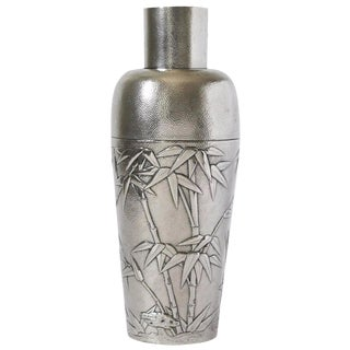 Chinese Silver Cocktail Shaker by Hung Chong For Sale