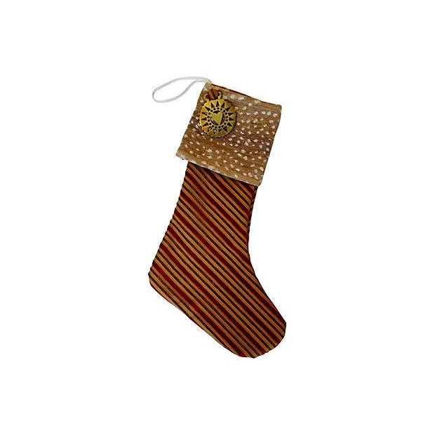 Christmas Stocking with Brass Medallion - Image 4 of 4