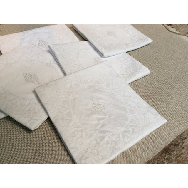 Antique French Linen Napkins - Set of 6 For Sale - Image 11 of 12