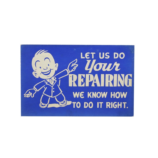 'Let Us Do Your Repairing' Store Sign - Image 1 of 3