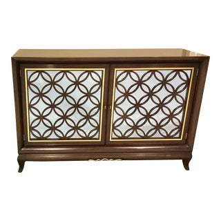 Maitland-Smith Modern Mirrored Chiffonier Cabinet For Sale