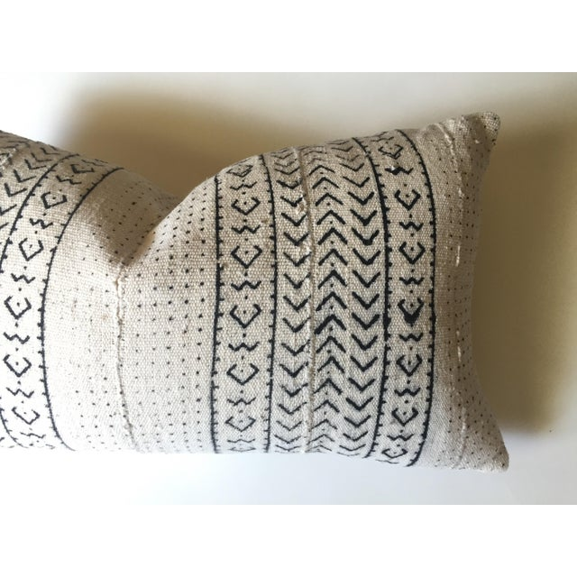 White & Black Mudcloth Pillow Cover - Image 6 of 9