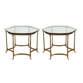 Vintage Maison Jansen Style Side Tables - a Pair